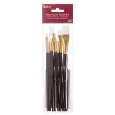 Studio 71 Brush Set- White Nylon Brushes, 10pc