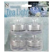 Submersible Tea Light White 4pk