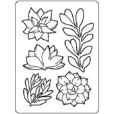 Darice Embossing Folder- Succulents