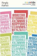 Color Vibe Alphabet Sticker Book- Summer