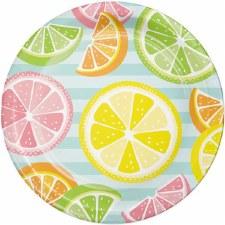 "Summer Citrus Paper Plates, 9""- 8ct"