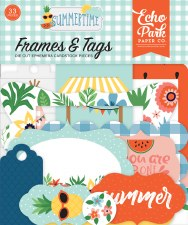 Summertime Ephemera Die Cuts- Frames & Tags
