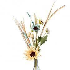 """16"""" Sunflower Pumpkin Cattail Filler"""