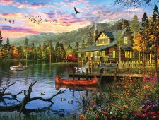 Sunset Cabin - 550 piece puzzle