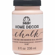 FolkArt Home Decor Chalk Paint 8 oz- Sunset Rose
