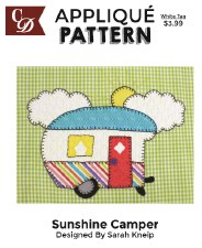 Applique Pattern- Sunshine Camper