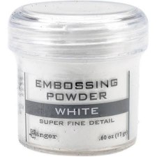 Embossing Powder- White, Super Fine Detail