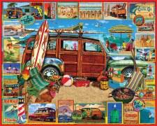 Surfin' Woodie - 1,000 Piece Puzzle