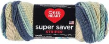 Red Heart Super Saver Yarn, Stripes- Sutherland