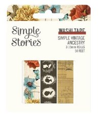 Ancestry Washi Tape 3pk