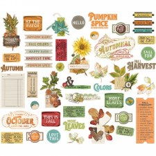 Simple Vintage: Autumn Splendor Bits & Pieces Die Cuts