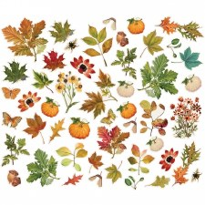 Simple Vintage: Autumn Splendor Bits & Pieces Die Cuts- Foliage