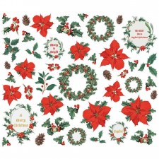 Simple Vintage: Country Christmas Bits & Pieces Die Cuts- Floral