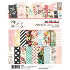 Simple Vintage Cottage Fields 6x8 Paper Pad