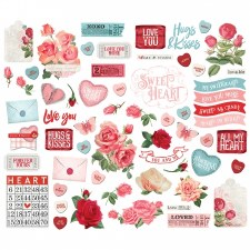 Simple Vintage: My Valentine Bits & Pieces Die Cuts