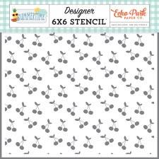 6x6 Stencil- Summertime, Sweet Cherries