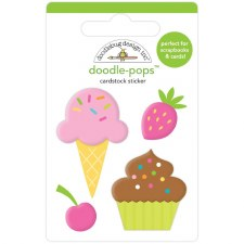 Hey Cupcake Doodle-Pops Stickers- Sweet Treats