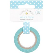 Doodlebug Washi Tape- Swiss Dot- Swimming Pool