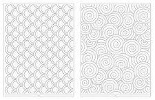 We R Memory Keepers Revolution Embossing Folders, 2pk- Swirls & Scallops
