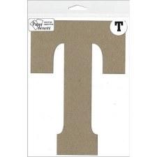 """8"""" Chipboard Letter- T"""