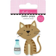Chloe Bella-Pops Stickers- Tabby Cat