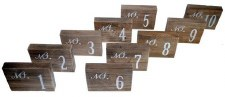 "Rustic Table Numbers, 5""x4""- Numbers 1-10"