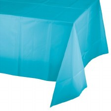 """Touch of Color Plastic Tablecover 54""""x108""""- Bermuda Blue"""