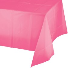"""Touch of Color Plastic Tablecover 54""""x108""""- Candy Pink"""