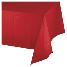 """Touch of Color Plastic Tablecover 54""""x108""""- Classic Red"""