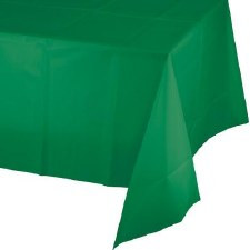 """Touch of Color Plastic Tablecover 54""""x108""""- Emerald Green"""