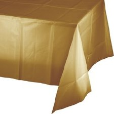 """Touch of Color Plastic Tablecover 54""""x108""""- Glittering Gold"""