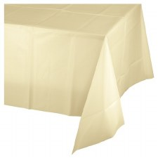 """Touch of Color Plastic Tablecover 54""""x108""""- Ivory"""