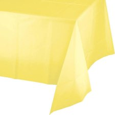 """Touch of Color Plastic Tablecover 54""""x108""""- Mimosa Yellow"""