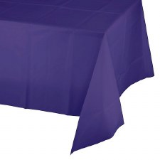 """Touch of Color Plastic Tablecover 54""""x108""""- Purple"""
