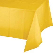 """Touch of Color Plastic Tablecover 54""""x108""""- School Bus Yellow"""