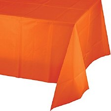 """Touch of Color Plastic Tablecover 54""""x108""""- Sunkissed Orange"""
