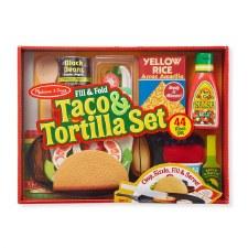 Melissa & Doug Food/Kitchen Play Set- Taco & Tortilla Set