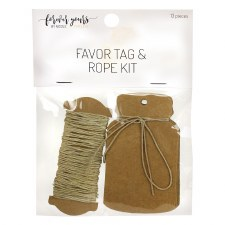 Favor Tag + Rope Kit, 12ct