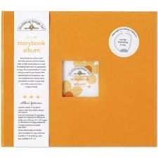 Doodlebug 12x12 Storybook 3-Ring Album- Tangerine