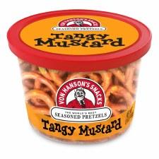 Von Hanson's 4oz Pretzel Cup- Tangy Mustard