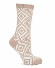 Aztec Galaxy Crew Sock - Taupe