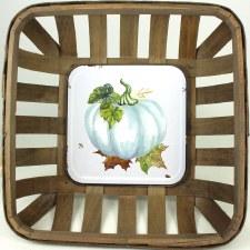 Gather by Nicole Decor Basket- Aqua Pumpkin