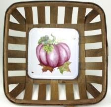Gather by Nicole Decor Basket- Maroon Pumpkin
