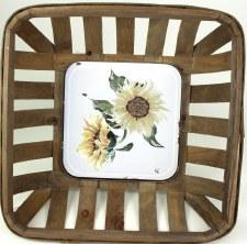Gather by Nicole Decor Basket- Pale Yellow Sunflower