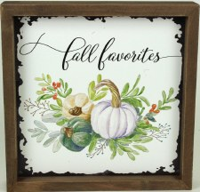 Gather by Nicole 8x8 Fall Favorites Sign