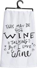Dish Towel- I Love Wine