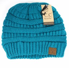 Adult Knitted Beanie Tail- Teal