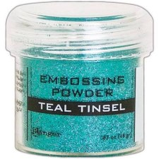 Embossing Powder- Tinsel, Teal