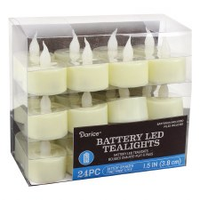Battery LED Tealights, 24ct