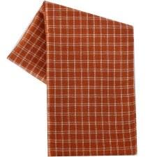 "Window Pane 20""x28"" Tea Towel- Terracotta & Cream"
